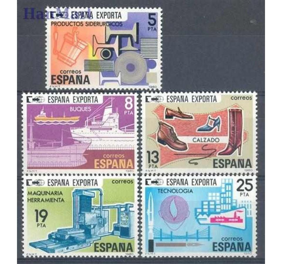 Hiszpania 1980 Mi 2455-2459 Czyste **