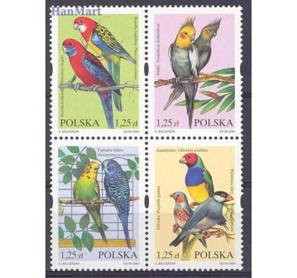 Znaczek Polska 2004 Mi 4117-4120 Fi 3967-3970 Czyste **
