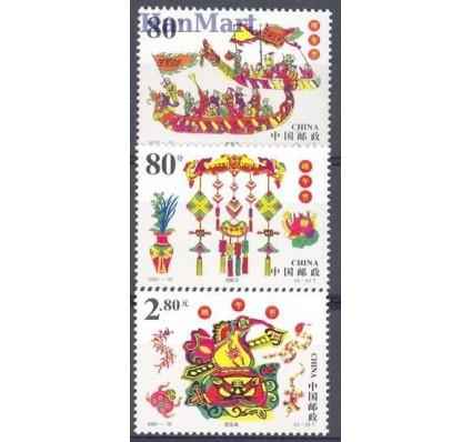Znaczek Chiny 2001 Mi 3250-3252 Czyste **