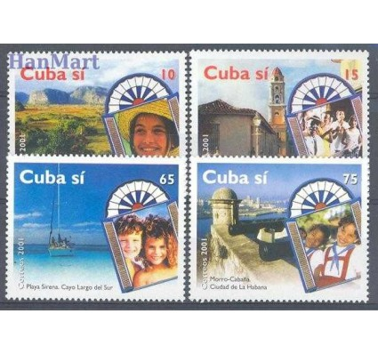 Znaczek Kuba 2001 Mi 4373-4376 Czyste **
