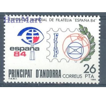 Znaczek Andora Hiszpańska 1984 Mi 174 Czyste **
