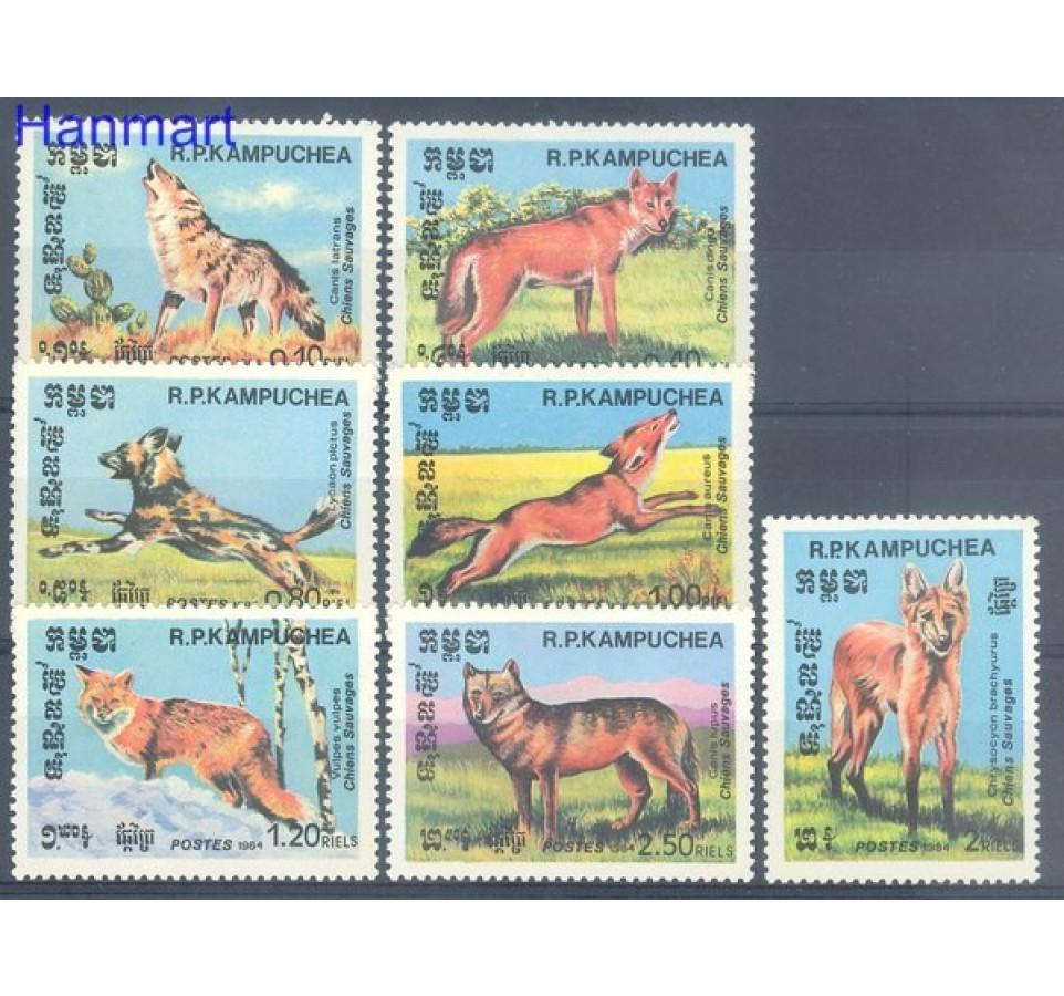 Kambodża 1984 Mi 577-583 Czyste **