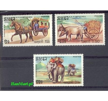 Znaczek Kambodża 1985 Mi 628-630 Czyste **