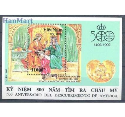 Znaczek Wietnam 1992 Mi bl 95 Czyste **