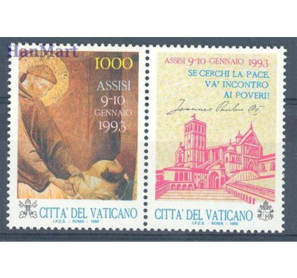 Znaczek Watykan 1993 Mi zf 1079 Czyste **