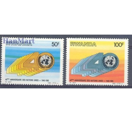 Znaczek Rwanda 1985 Mi 1308-1309 Czyste **
