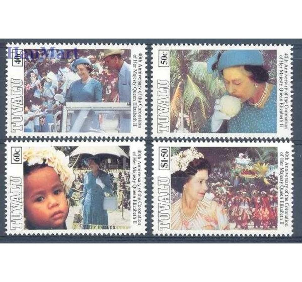 Tuvalu 1993 Mi 663-666 Czyste **