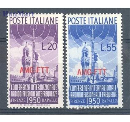 Znaczek Triest - Włochy 1950 Mi 107-108 Czyste **
