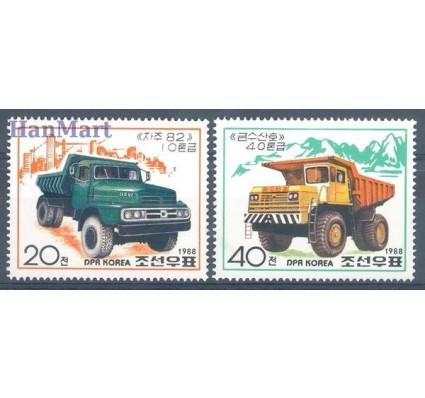 Znaczek Korea Północna 1988 Mi 2963-2964 Czyste **