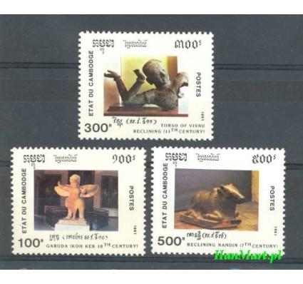 Znaczek Kambodża 1991 Mi 1212-1214 Czyste **