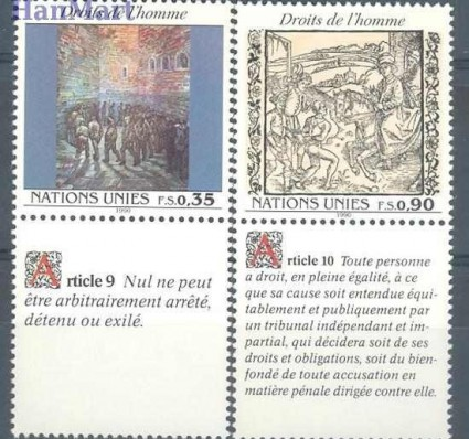 Znaczek Narody Zjednoczone Genewa 1990 Mi zf 192-193 Czyste **