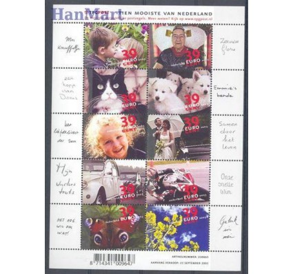 Znaczek Holandia 2003 Mi ark 2139-2148 Czyste **
