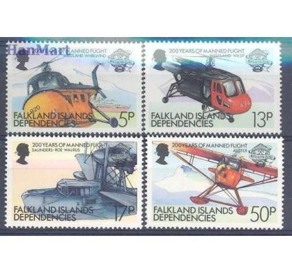 Znaczek Dependencja Falklandów 1983 Mi 117-120 Czyste **