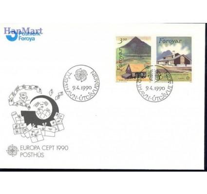 Wyspy Owcze 1990 Mi 198-199 FDC