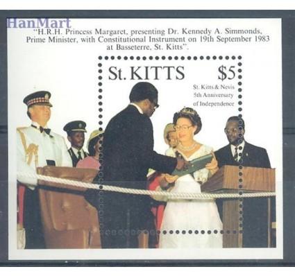 Znaczek Saint Kitts 1989 Mi bl 7 Czyste **