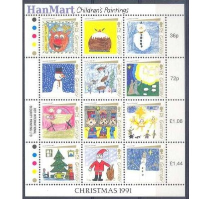 Znaczek Guernsey 1991 Mi ark 537-548 Czyste **