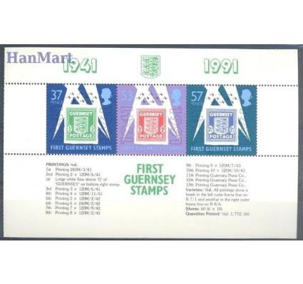 Znaczek Guernsey 1991 Mi h-blatt 34 Czyste **