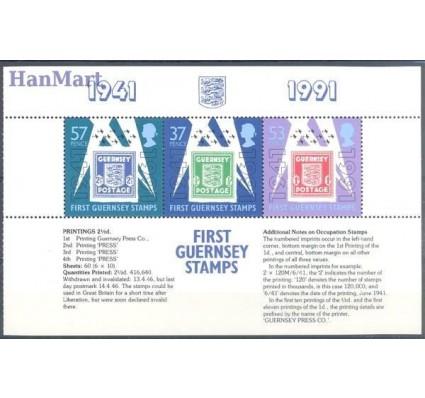 Znaczek Guernsey 1991 Mi h-blatt 36 Czyste **