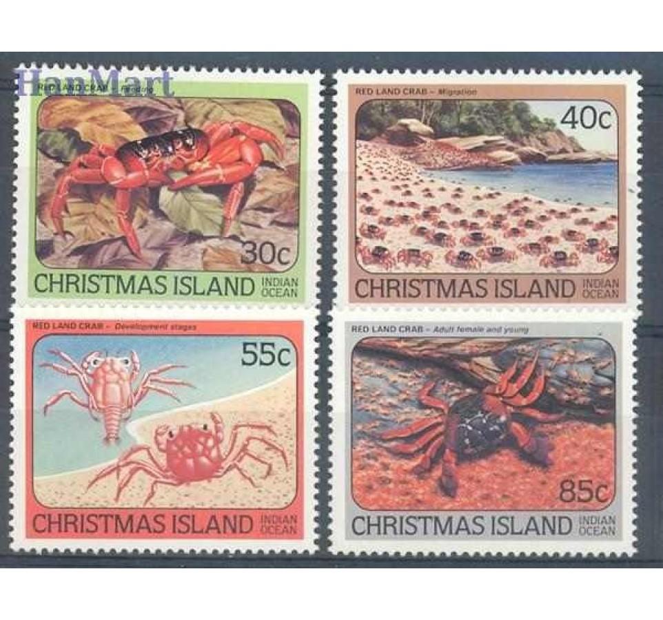 Wyspa Bożego Narodzenia 1984 Mi 183-186 Czyste **