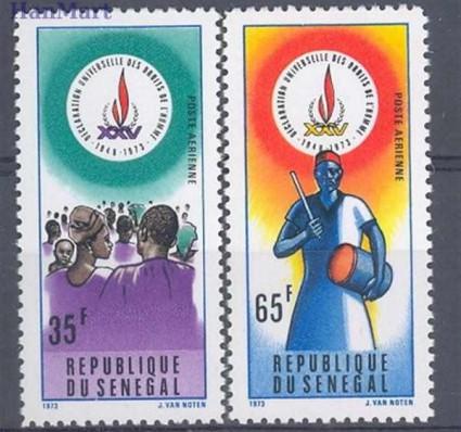 Znaczek Senegal 1973 Mi 536-537 Czyste **