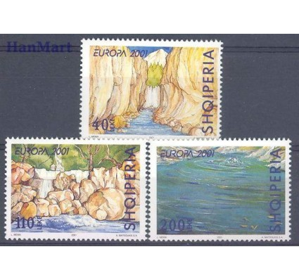 Znaczek Albania 2001 Mi 2809-2811 Czyste **