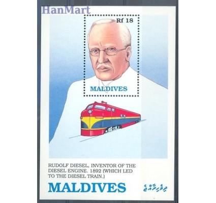Znaczek Malediwy 1989 Mi bl 161 Czyste **