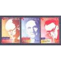 Chorwacja 2001 Mi 594-596 Czyste **