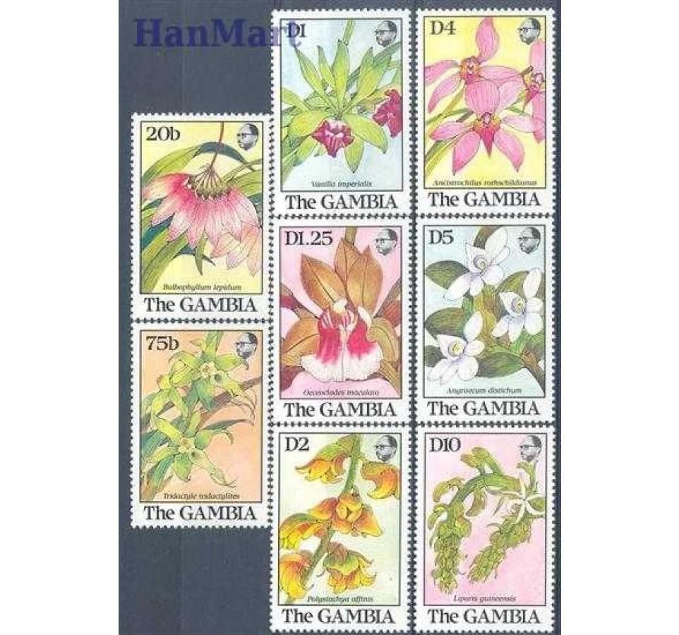 Gambia 1989 Mi 955-962 Czyste **