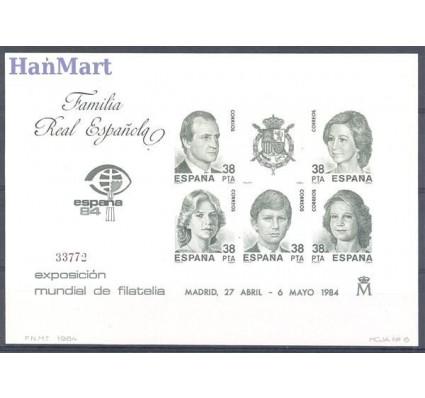 Znaczek Hiszpania 1984 Mi ausbl 27 Czyste **