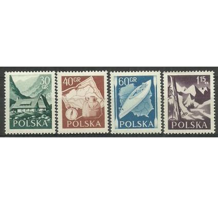 Znaczek Polska 1956 Mi 966-969A Fi 822-825 Czyste **