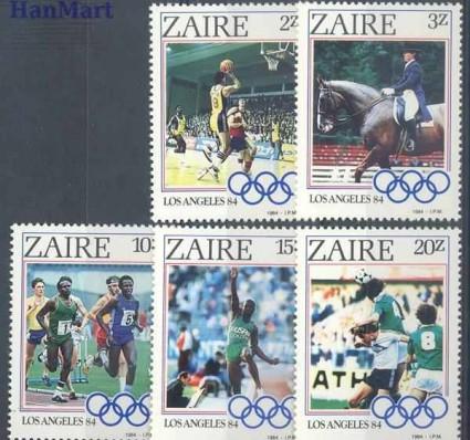 Kongo Kinszasa / Zair 1984 Mi 861-865 Czyste **