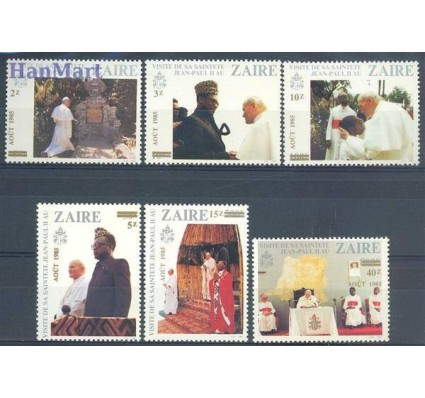 Kongo Kinszasa / Zair 1985 Mi 897-902 Czyste **