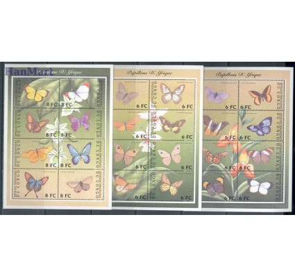 Kongo Kinszasa / Zair 2001 Mi ark 1646-1661+A1661-H1661 Czyste **