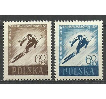 Znaczek Polska 1957 Mi 1002-1003 Fi 858a,b Czyste **