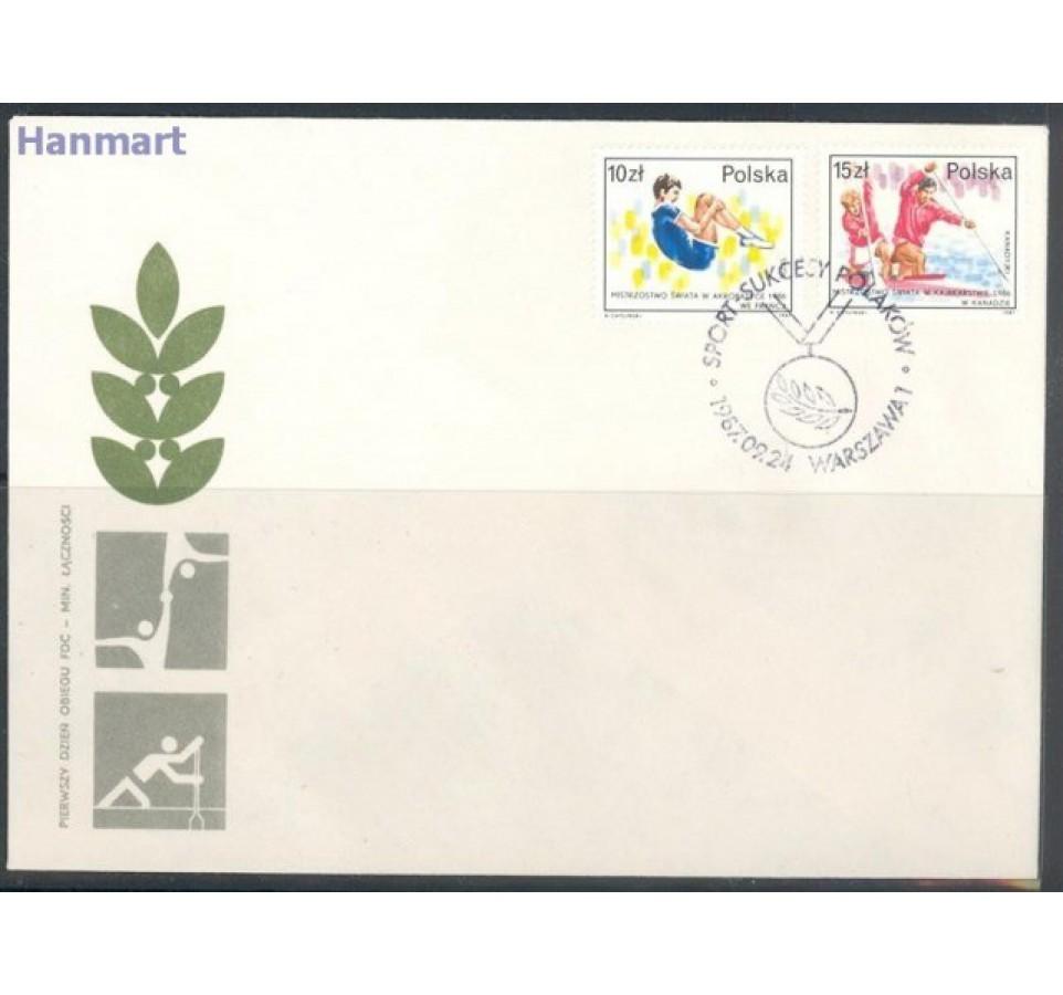 Polska 1987 Mi 3118-3119 Fi 2970-2973 FDC