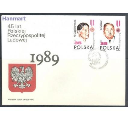 Polska 1989 Mi 3207-3210 Fi 3058-3061 FDC