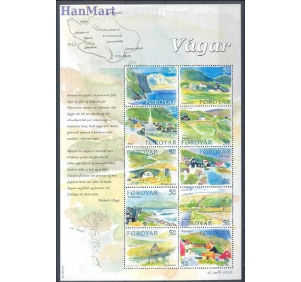 Znaczek Wyspy Owcze 2005 Mi ark 513-522 Czyste **
