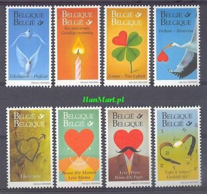 Belgia 1999 Mi 2848-2855 Czyste **