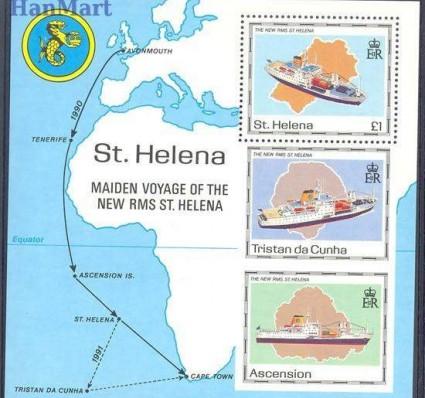 Znaczek Wyspa św. Heleny 1990 Mi bl 10 Czyste **