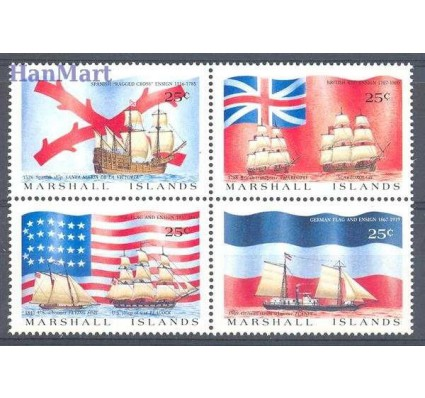 Znaczek Wyspy Marshalla 1988 Mi 185-188 Czyste **
