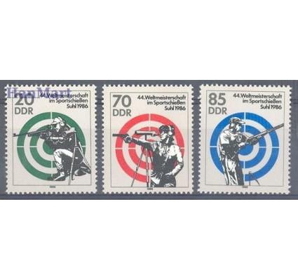 Znaczek NRD / DDR 1986 Mi 3045-3047 Czyste **