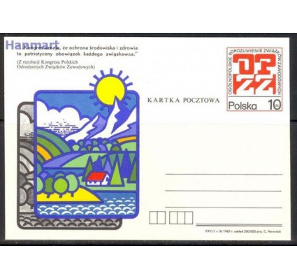 Polska 1987 Fi Cp 969 Całostka pocztowa