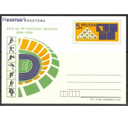 Znaczek Polska 1986 Fi Cp 918 Całostka pocztowa