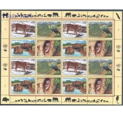 Narody Zjednoczone Genewa 2001 Mi ark 409-412 Czyste **
