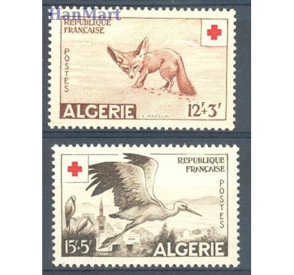 Znaczek Algieria 1957 Mi 365-366 Czyste **