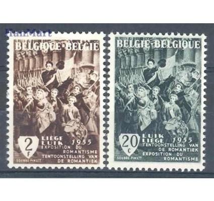 Belgia 1955 Mi 1020-1021 Czyste **