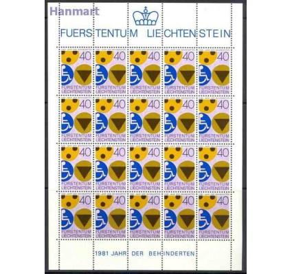 Znaczek Liechtenstein 1981 Mi ark 774 Czyste **