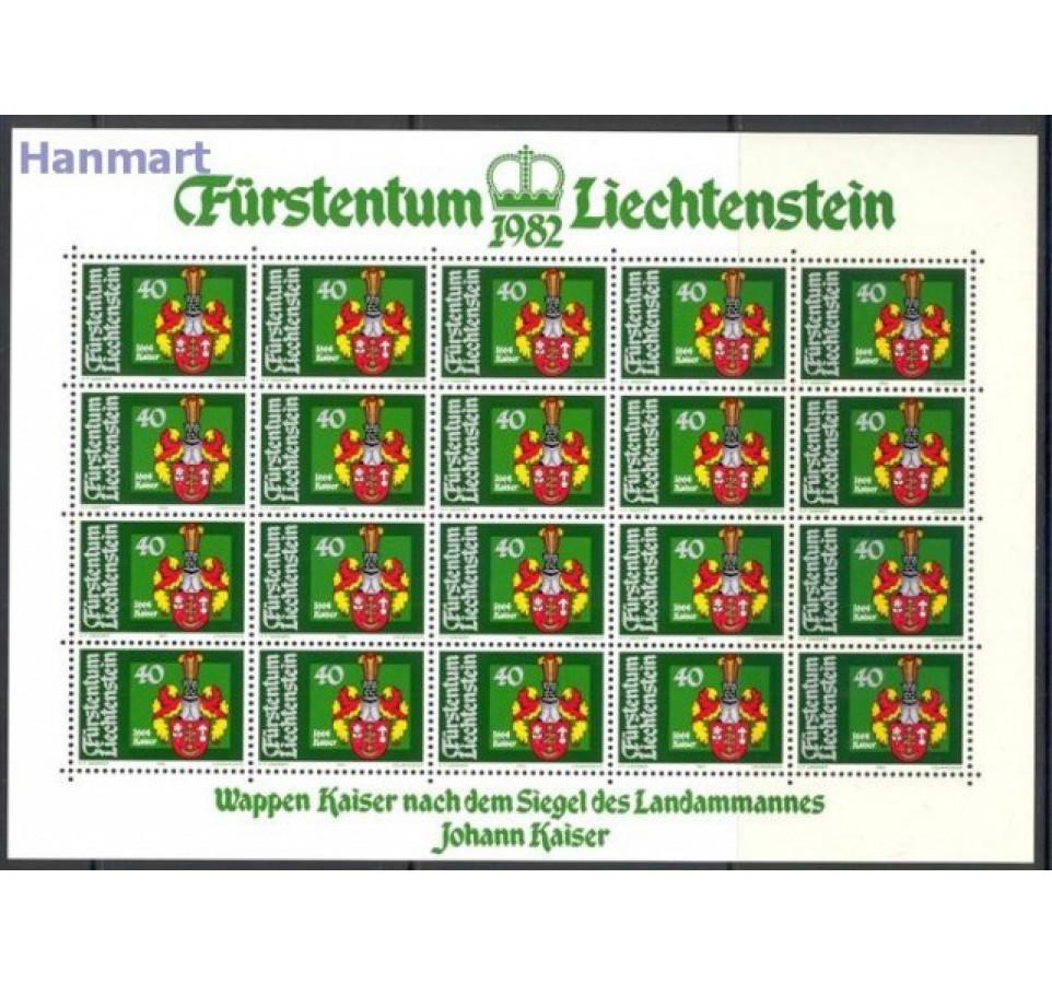Liechtenstein 1982 Mi ark 793-796 Czyste **