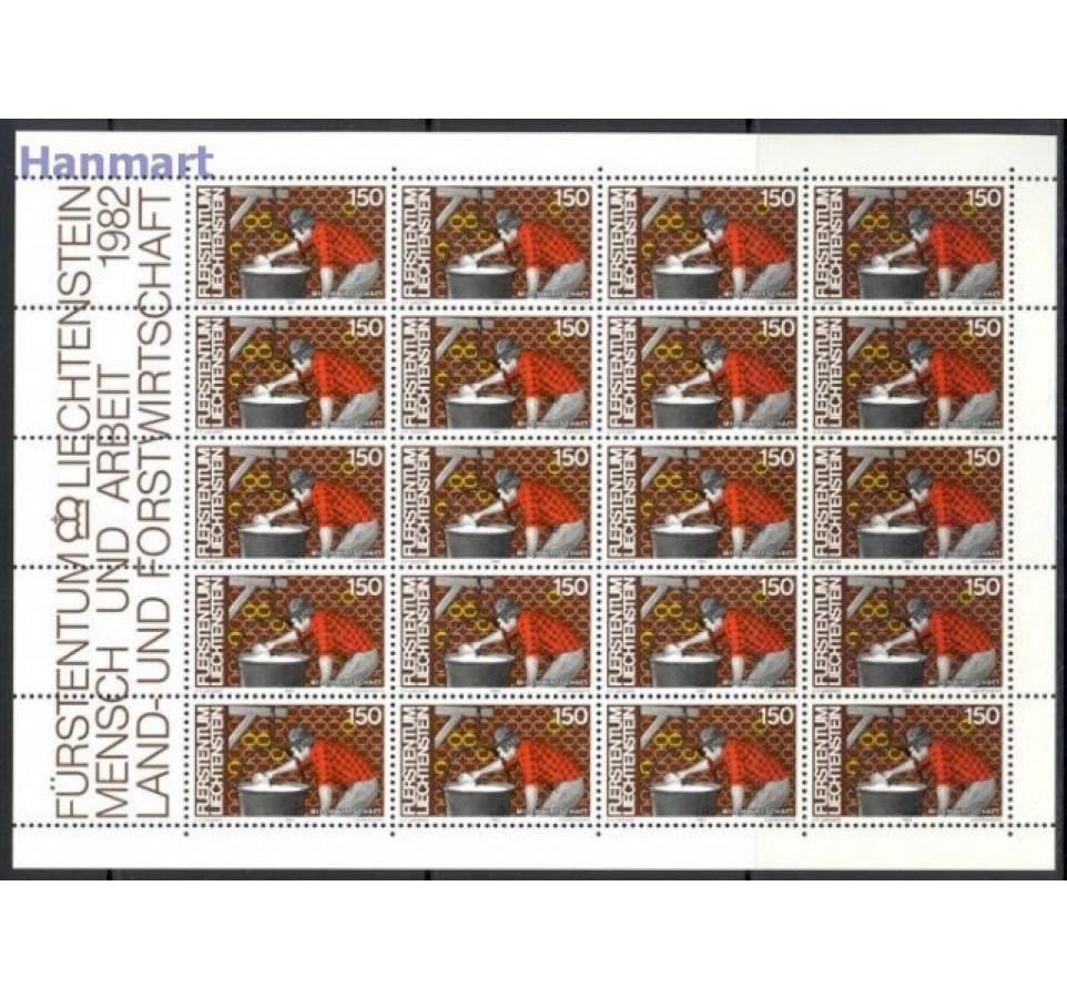 Liechtenstein 1982 Mi ark 802-805 Czyste **