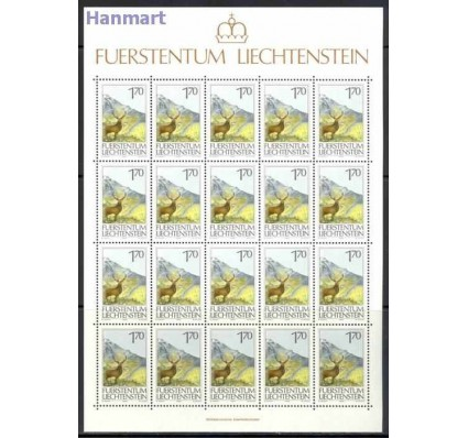 Znaczek Liechtenstein 1986 Mi ark 907-909 Czyste **